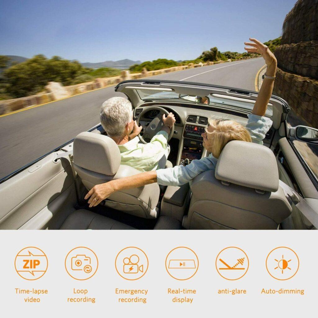 BOSCAM Mirror Dashcam Sony IMX Sensor Dash Camera For Cars