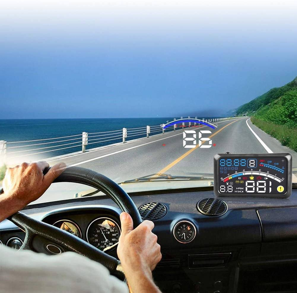 """Vsctool 5"""" HD car HUD OBD + GPS"""