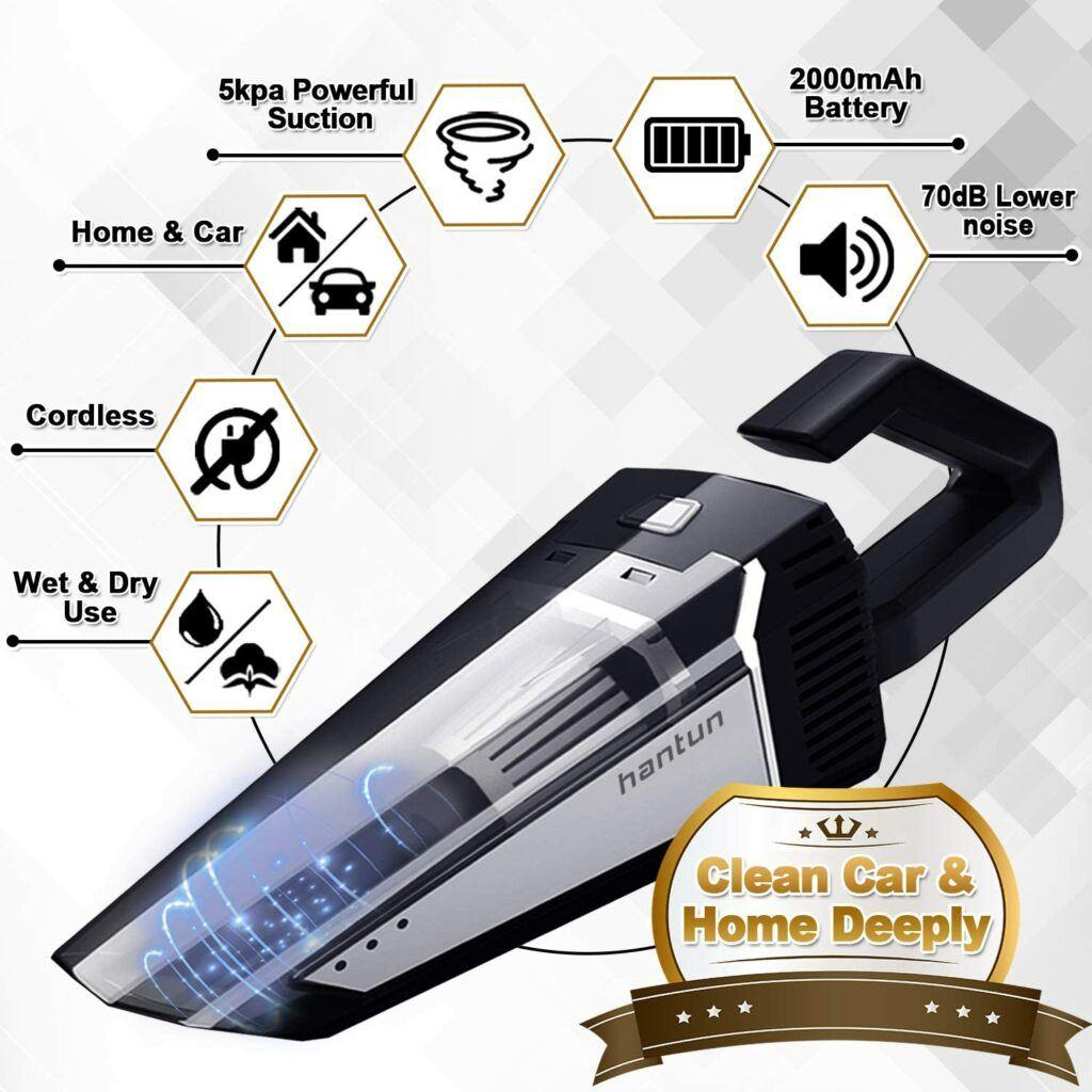 Hantun car vacuum 5000PA