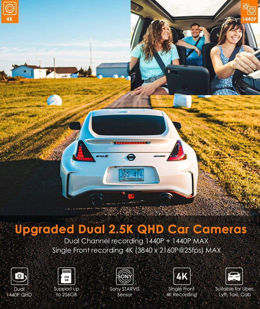 Vantrue N2S dual 2.5k dashcam with GPS