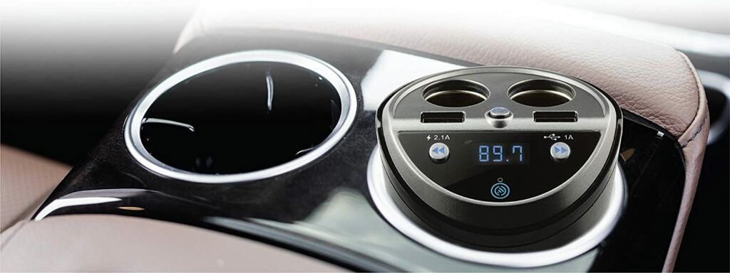 CAR AND DRIVER Bluetooth FM Transmitter Cup