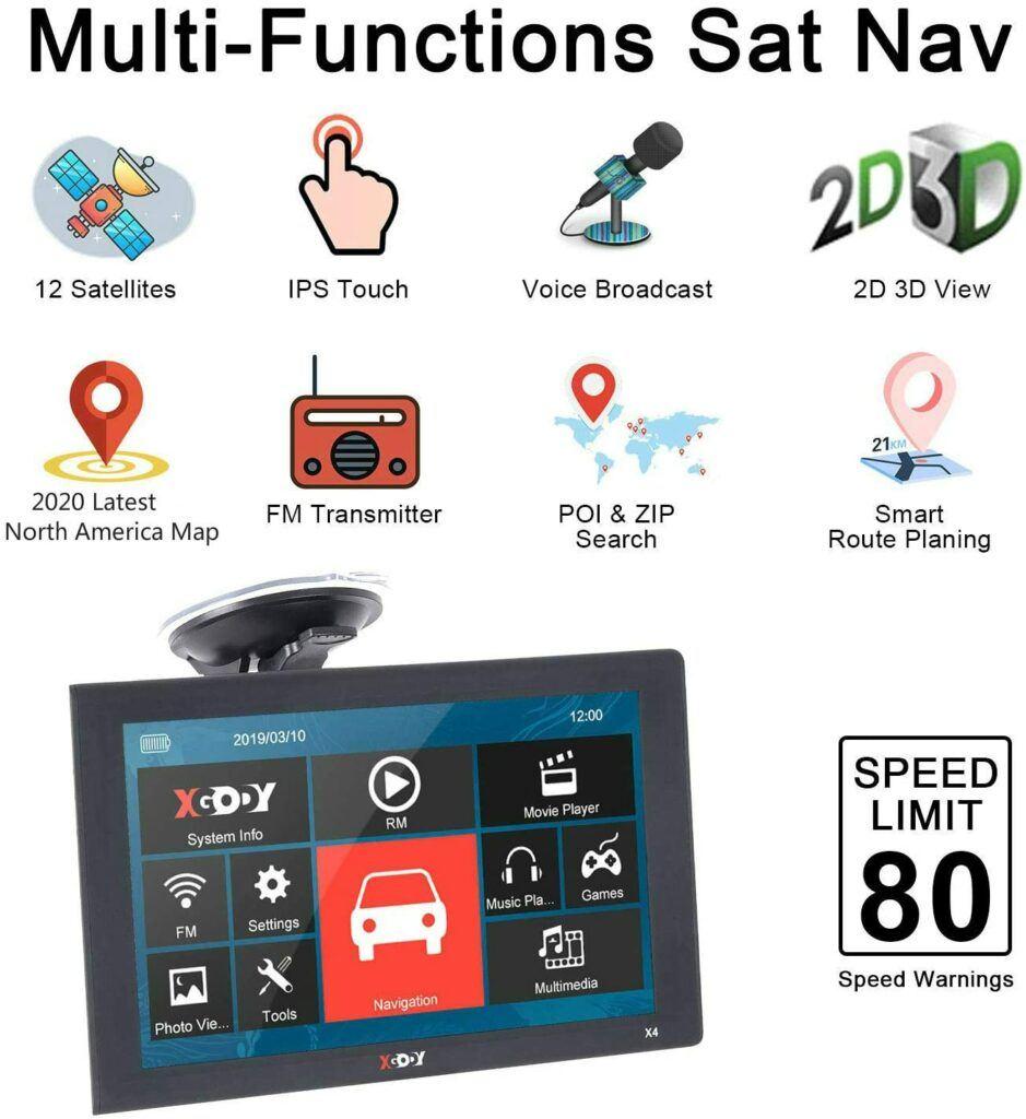 XGODY 9 inch GPS Navigation Review