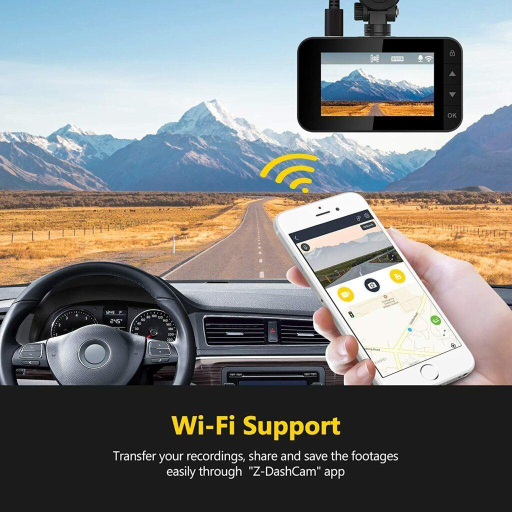 Z-Edge Wi-Fi 1080P Dash Cam