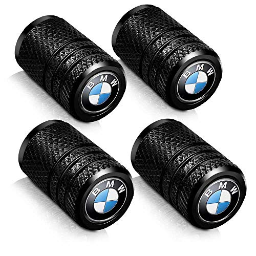Baoxijie 4 Pcs Metal Car Wheel Tire Valve Stem Caps for BMW