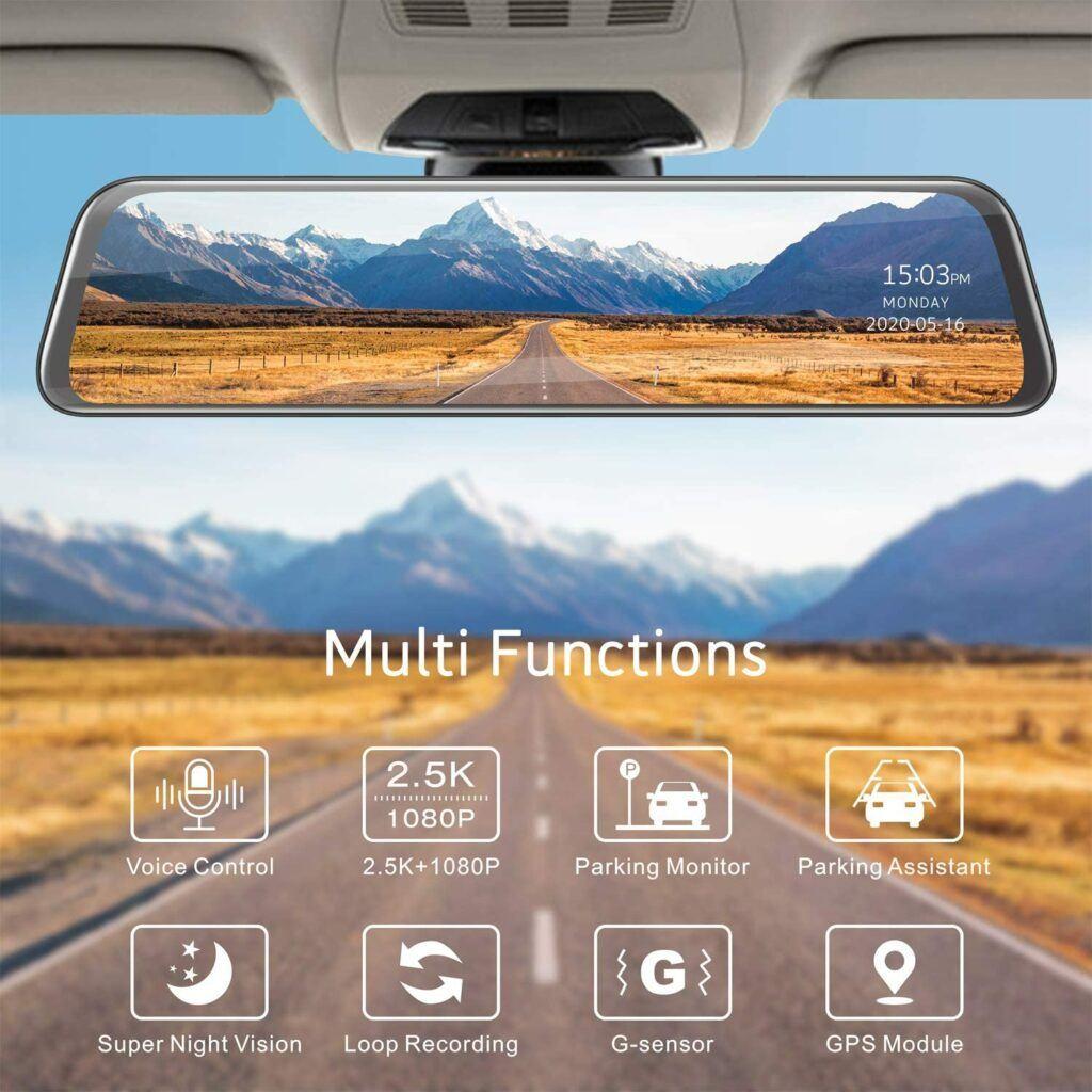 TOGUARD 2.5k Mirror DashCam