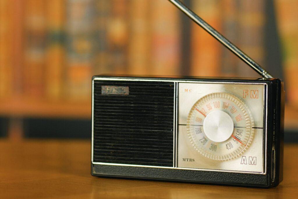 Satellite and FM radio are portable