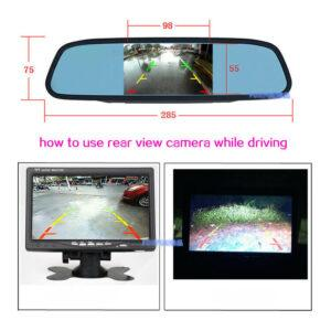 HOW TO USE REAR VIEW CAMERA WHILE DRIVING
